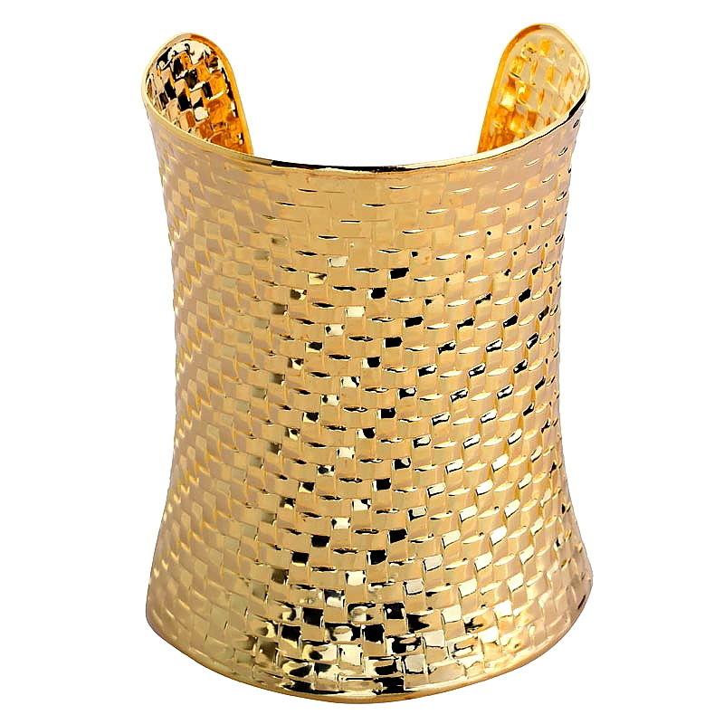 Gold Plated Jewelry Bangle Craved Alloy Bracelet