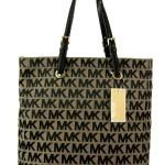 MICHAEL Michael Kors N/S Jet Set SIGNATURE JACQUARD TOTE Handbag