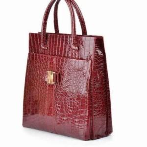 Luxury Womens OL Crocodile Pattern PU Leather Handbag Shoulder Bag Tote Fashion