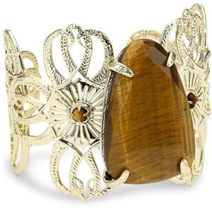 Kendra Scott Cambrie Tigers Eye Cuff Bracelet